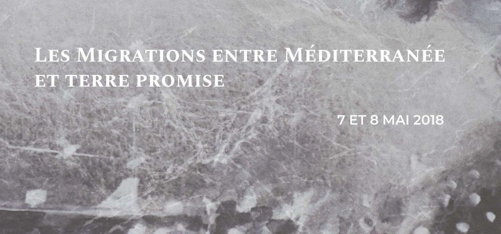 """Congreso """"Les Migrations entre Méditerranée et terre promise"""""""